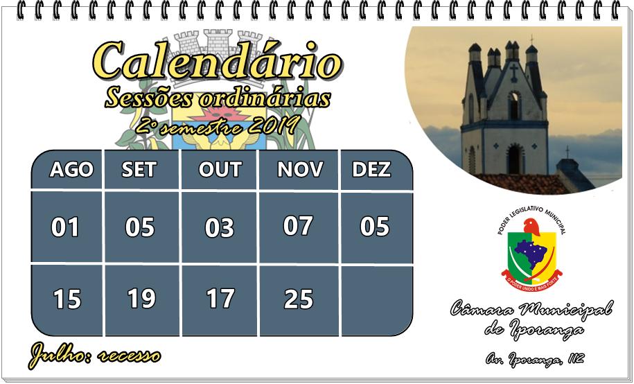 Calendario sessao 19 dois