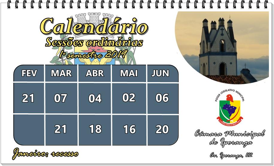 Calendario sessao 19 um