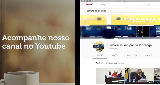 Acesse o nosso canal no Youtube