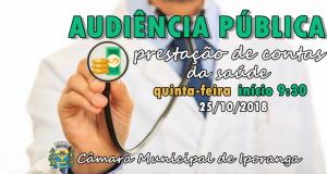 Audiência Pública Gastos da Saúde – 25/10/18