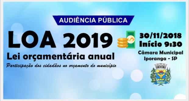 Audiência Pública LOA – 30/11/2018 – Participe!