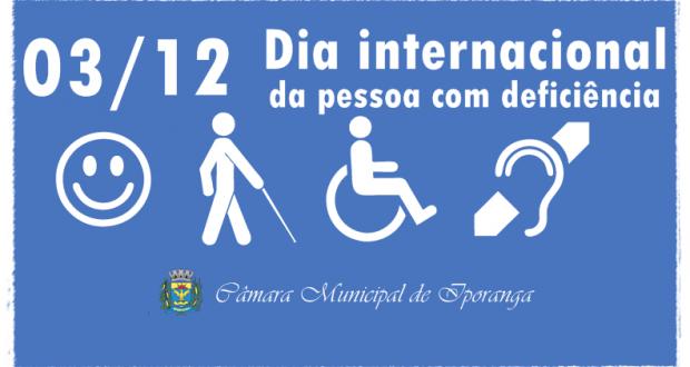 03 de Dezembro – Dia Internacional da Pessoa com Deficiência