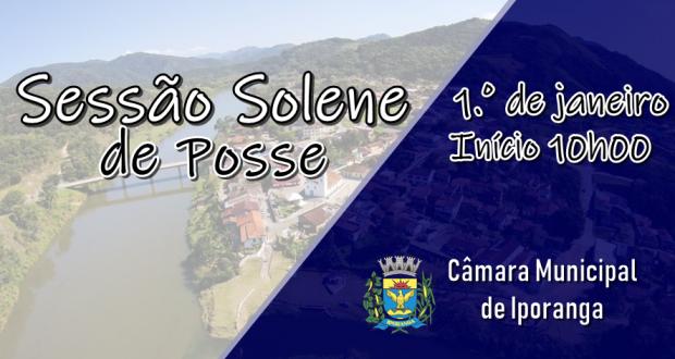 Convite da Sessão Solene de Posse – 1°. de janeiro – 2019