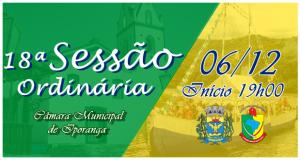 18ª Sessão Ordinária de 2018
