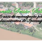 Convite da Sessão Solene de emancipação político administrativa de Iporanga/SP