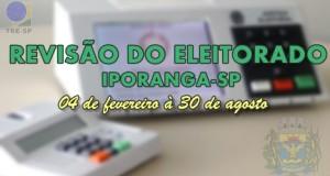 Revisão do Eleitorado 2019 – Iporanga – SP