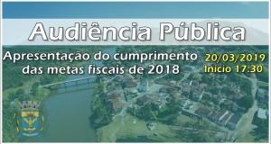 Audiência pública de apresentação do cumprimento das metas fiscais de 2018