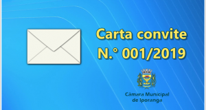 Carta convite N.° 001/2019 – Câmara Municipal de Iporanga