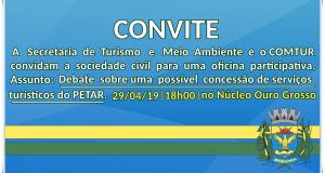 Convite Secretaria de Turismo e COMTUR de Iporanga