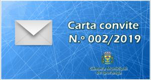 Carta convite N.° 002/2019 – Câmara Municipal de Iporanga