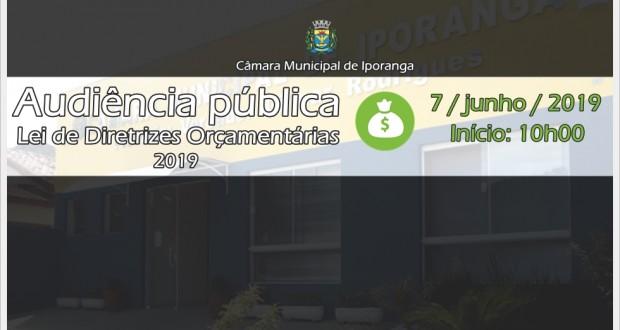Convite – Audiência pública da Lei de Diretrizes Orçamentárias