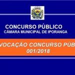 CONVOCAÇÃO CONCURSO PÚBLICO 001/2018