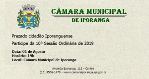 10ª Sessão Ordinária de 2019