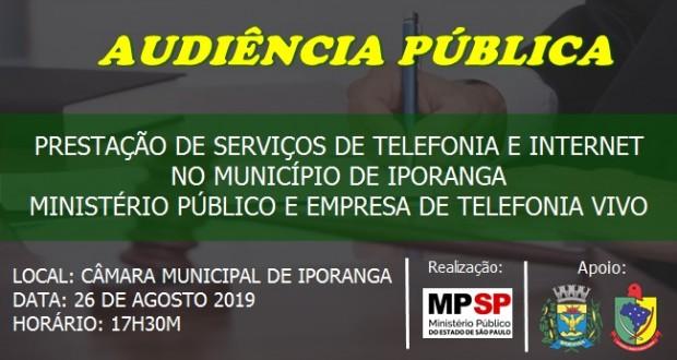 EDITAL DE AUDIÊNCIA PÚBLICA – PRESTAÇÃO DE SERVIÇOS DE TELEFONIA NO MUNICÍPIO DE IPORANGA