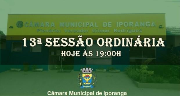 13ª SESSÃO ORDINÁRIA 2019