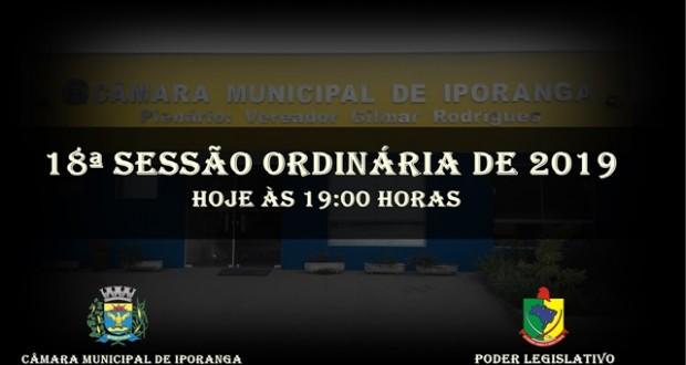 18ª SESSÃO ORDINÁRIA DE 2019
