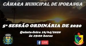 5ª SESSÃO ORDINÁRIA DE 2020