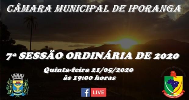 7ª SESSÃO ORDINÁRIA DE 2020